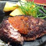 牛肉厨房 円相 - 料理写真:花園牛ハンバーグ@おろしポン酢で食事中