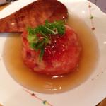野菜食堂 - トマトの丸揚げ