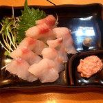海の幸 美味 - 料理写真:どんこ刺と肝