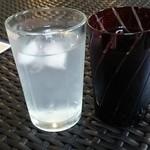 CAFE KIKI - 2015.10 左:スポーツドリンク 右:お水