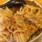 せんしゅう - カレーうどん 麺柔らかめ、てんぷらトッピング4分の1カット