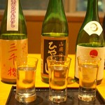 牡蠣と日本酒 四喜 - ひやおろし飲み比べ