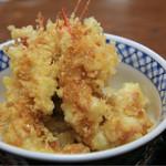 食事処 白帆 - 北海シマエビ 天丼  ¥1,300