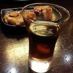 庭つ鶏 葉山 - シェリー酒からスウィートシェリーでアルグエソモスカステル700円