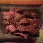 庭つ鶏 葉山 - レバ焼き410円