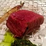プリンチピオ - 熟成短角牛ランプの炭火焼