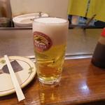 広島お好み焼 くるみ - 生ビール(中、540円)