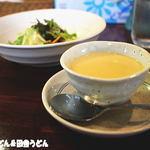 うさぎのキッチン 桜亭 - 2015年9月 セットのスープ・サラダ