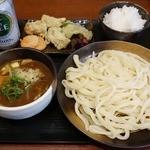 竹國 武蔵野うどん - カレー汁うどん 並(650円)と食べ放題(200円)
