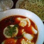 牛すじ野菜つけそば 竜馬 - トマトチーズつけ麺ご飯付(めん大盛)