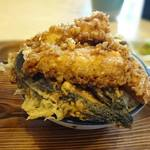そば処いち膳 - 料理写真:ミニイカ天丼+なす天・・もはやミニではない・・(;´∀`)