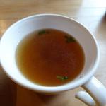 三股山荘 - 付属のスープ