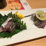 凛 - 秋刀魚の刺身(750円)