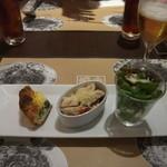 鎌倉パスタ - 前菜3種盛り