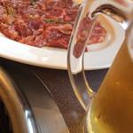 登正門 - ロース、生ビール