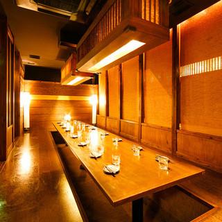 上質な個室空間は2名様~最大180名様までご案内可能♪