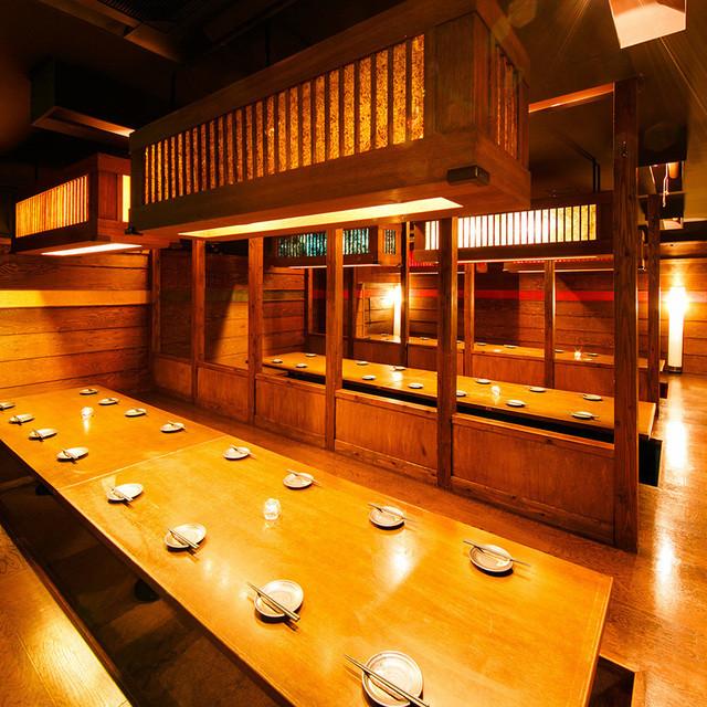 座席 : 日本酒と個室居酒屋 まぐろ奉行とかに代官 新橋店 - 新橋 ...