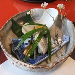 4291122 - 穴子とコハダの寿司に子持ちヤリイカの煮物