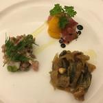 トラットリア・ラ・テラ - コースの前菜