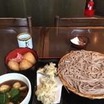 そじ坊 - 舞茸天の湯葉つけ汁せいろ蕎麦