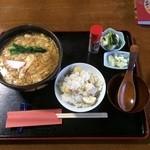 うい庵 - 20151010_かき玉うどん(850円)+栗おこわ(150円)