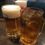 地鶏もも焼専門 角鶏 - ☆生ビール&ウーロン茶で乾杯☆