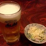 42916586 - 生ビールとお通し