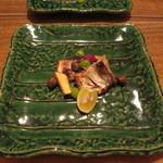 つる瑠 - 叺のつけ焼き、金時芋、銀杏、ムカゴ