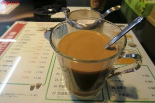 香港 贊記茶餐廳 - 港式絲襪奶茶(香港式ミルクティー)(熱)