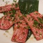 焼肉ここから 浜松町店 - 和牛上カルビ(1480円外)