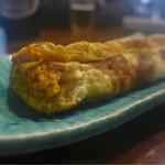 天ぷら 住友 - 焼き立て卵焼き、湯気立ってます