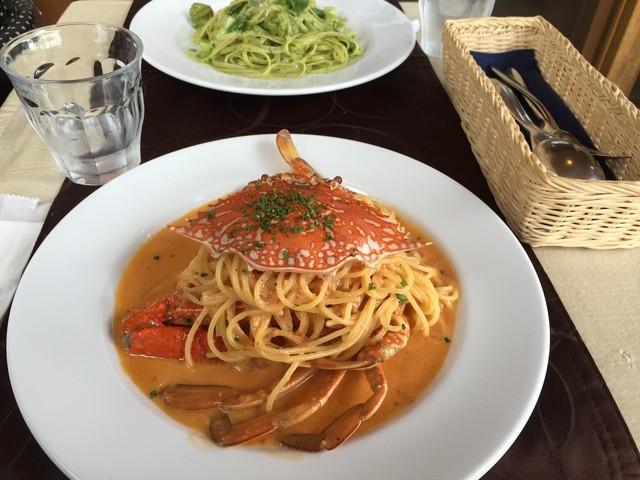アダージオ - 渡り蟹のトマトクリームスパゲッティ
