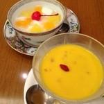 京華園 - マンゴープリンと杏仁豆腐