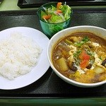 とれたて野菜 キッチン加賀田 - 野菜たっぷりのスープカレー 1050円 (^^