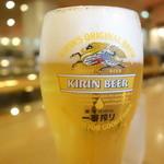 ロイヤルコーヒーショップ - セットの生ビール(中)