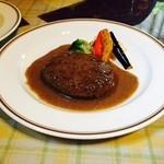 洋食屋ザンガラ - ハンバーグ(こしょうソース)