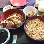 更科 - 料理写真:天丼セット1050円 これはうまいっす