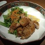 隠れ家ダイニング 和楽 - 宮崎赤鶏のもも肉炙り焼き