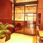 上島珈琲店 - 喫煙室への入口