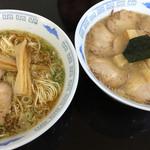 佐藤中華そば楼 by ねぎぼうず - 左:正油(並)、右:味噌チャーシュー(並)