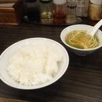チャイナキッチン 杭州 - ライス、スープ