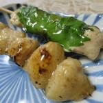 ハマケイ - 梅しそ串(塩)、ぼんじり串(塩)アップ