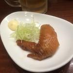 鉄なべ - 手羽先の甘辛煮(2015,9)