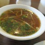洋食 ひらおか  - 定食に付いてくる中華スープが絶品!