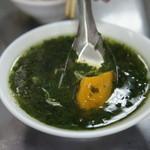 山河魯肉飯 - モロヘイヤスープは薩摩芋入り