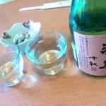 心々庵 - 最初っから日本酒で❤
