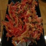 や~じぐゎ~ - 紅生姜のかき揚げ天