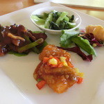 琉華菜苑 - ランチコース・水仙のメイン4種