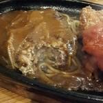 42969541 - ハンバーグの肉汁