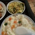 芳仙閣 - 豆腐と海老の旨煮と卵焼き